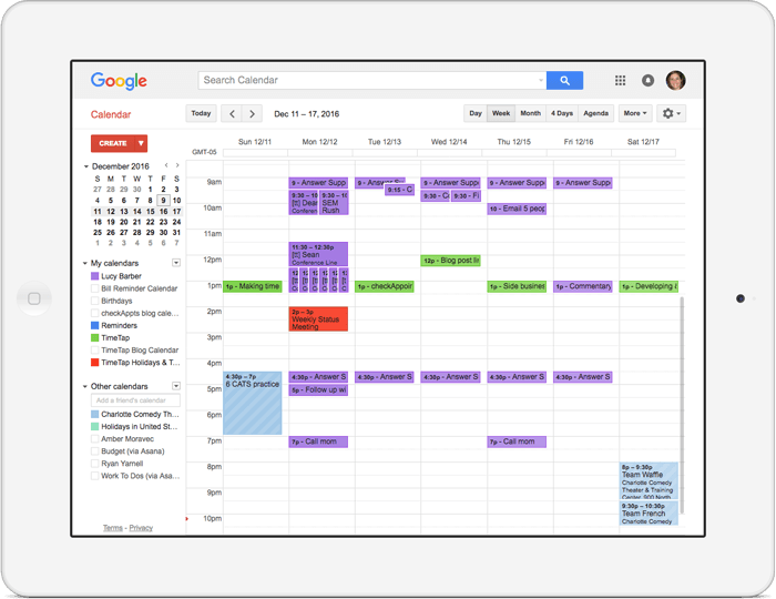 instantly send your web scheduler appointments to your google calendar