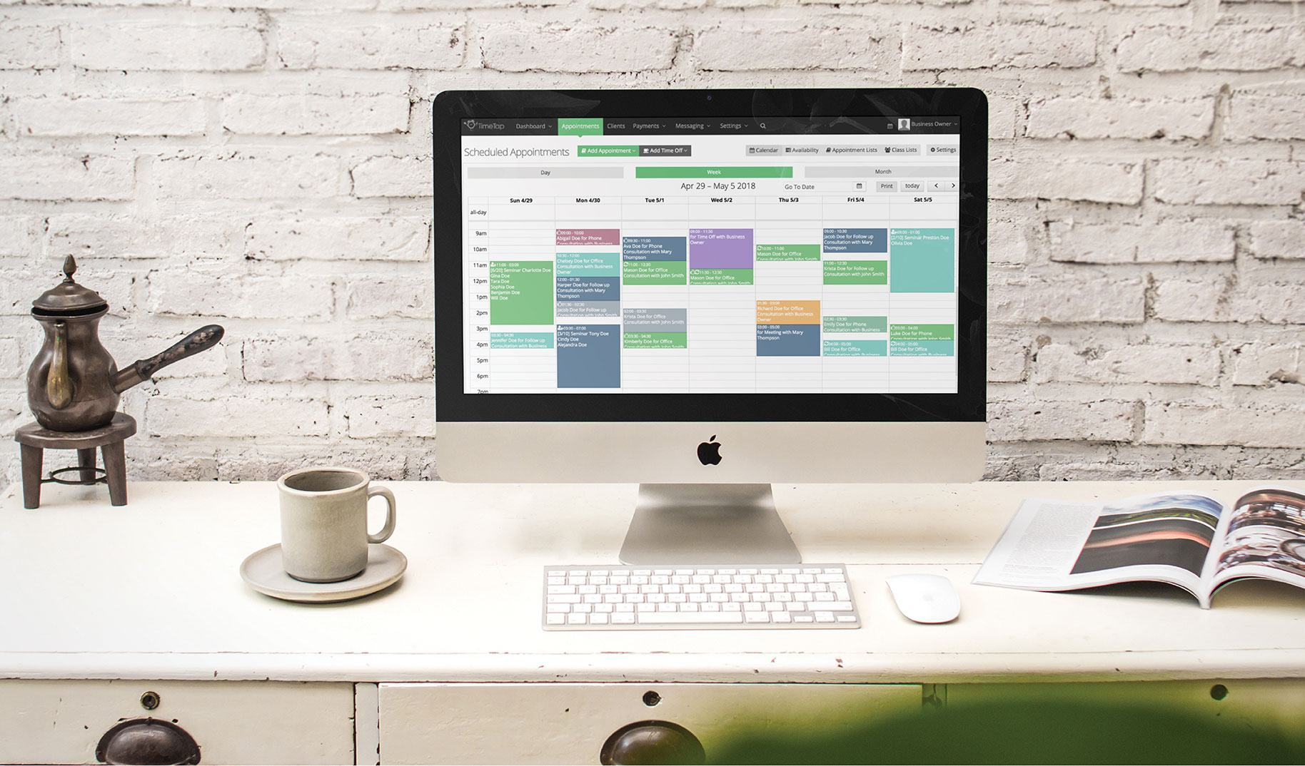 Maintain control of your schedule with easy booking through TimeTap