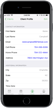 See which clients have appointments with you from your mobile device