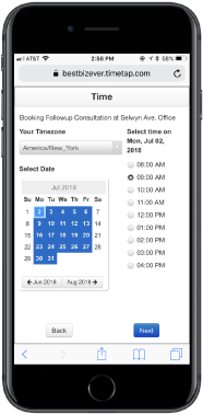 Client scheduling for easy appointment booking
