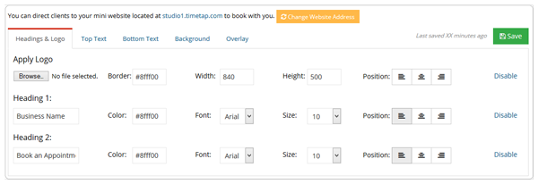 Design your web scheduler to match your brand