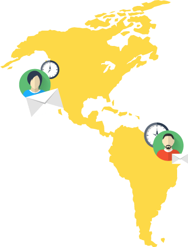Service clients across time zones with easy scheduling